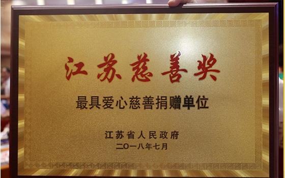 """苏宁荣膺""""最具爱心慈善捐赠单位"""