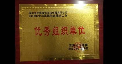 金艺城荣获荣誉证书1