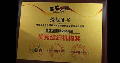 金艺城荣获荣誉证书3