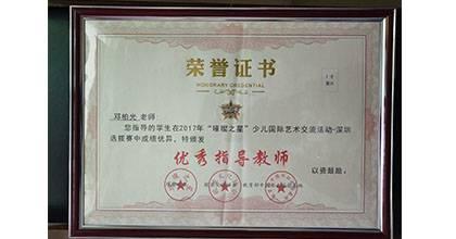 金艺城荣获荣誉证书8