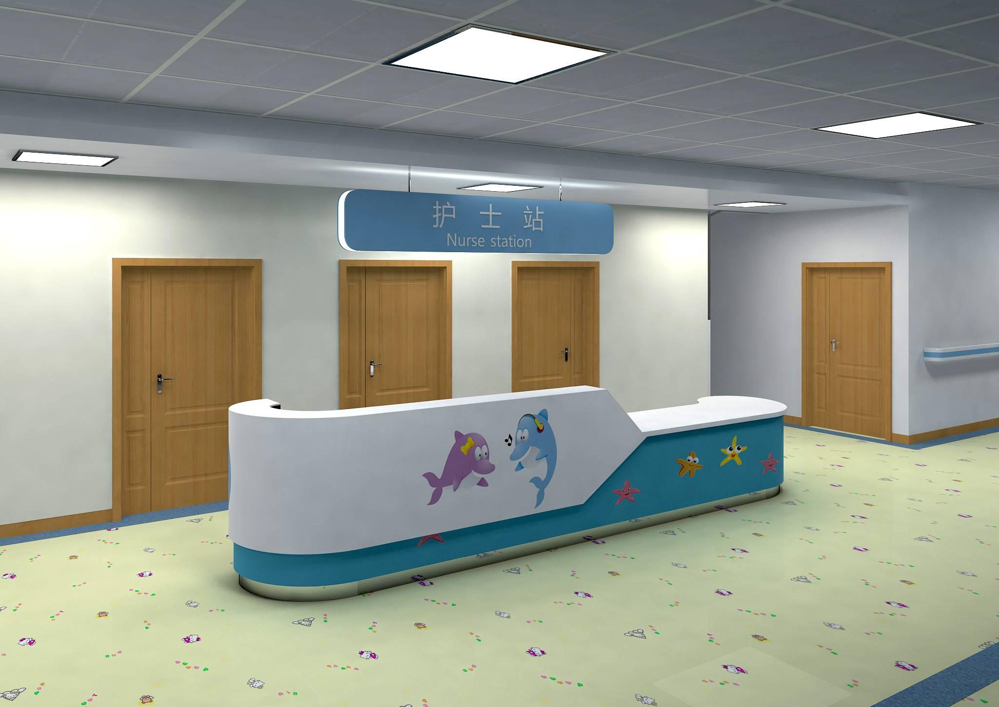 博生家具.儿童医院护士站