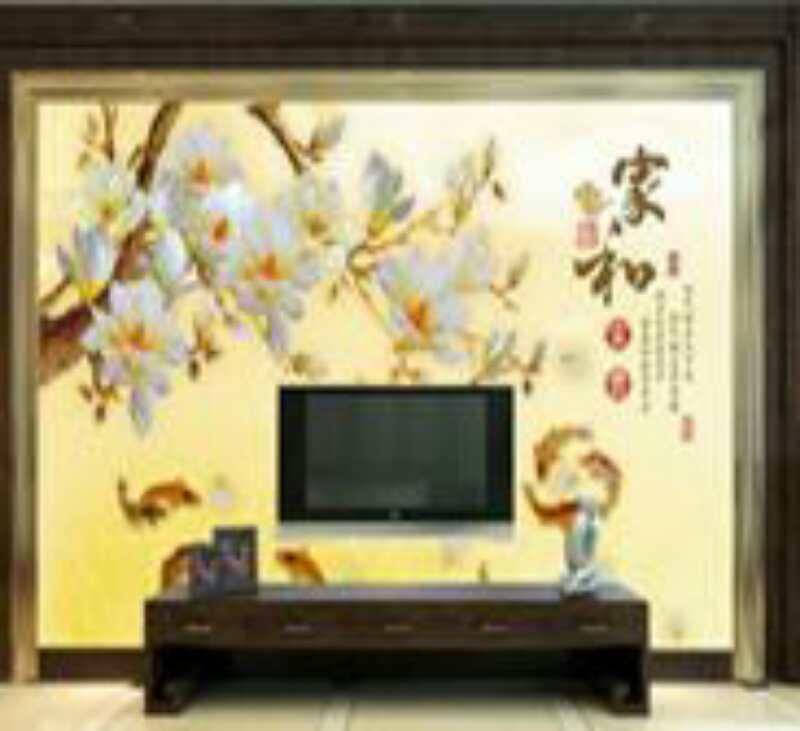 桥头.电视背景墙壁画